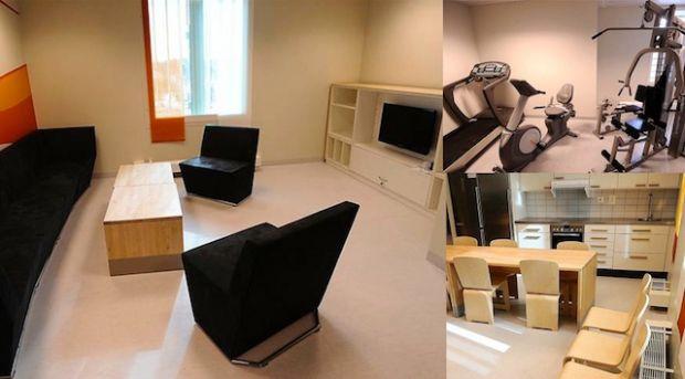 Luxusní vězeňská cela ve Švédsku