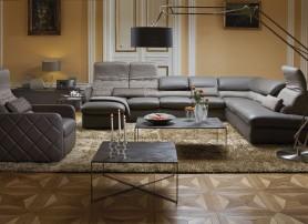 Obývací pokoj s luxusní sedací soupravou