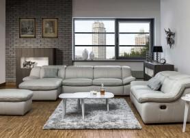Luxusní obývací pokoj v šedém provedení