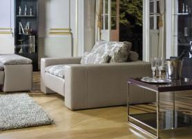 Luxusní kožené křeslo v obývacím pokoji
