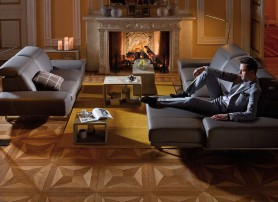 Obývací pokoj v romantickém nádechu
