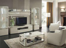 Moderní obývací pokoj v bílé barvě