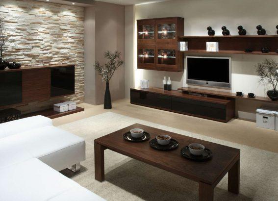 Luxusní interiér s přírodními prvky