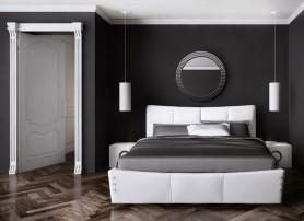Designová kožená postel